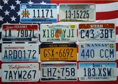 10 + 1 USA nummerplaten nummerborden kentekenplaten license plates