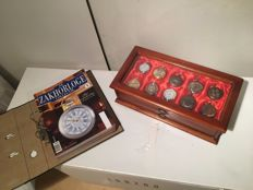 Collection of Hachette pocket watches