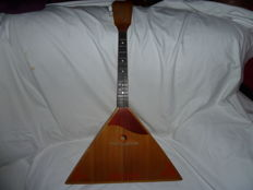 Vintage Antique Balalaika Russian 3-String Folk Instrument