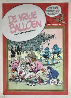 Haasteren, Jan van - Original cover illustration - De Vrije Balloen no. 11 Nov/Dec 1977