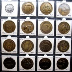 """Aerospace - Medals """"Project Apollo and Skylab"""" (16 different) - 15x bronze, 1x nickel"""