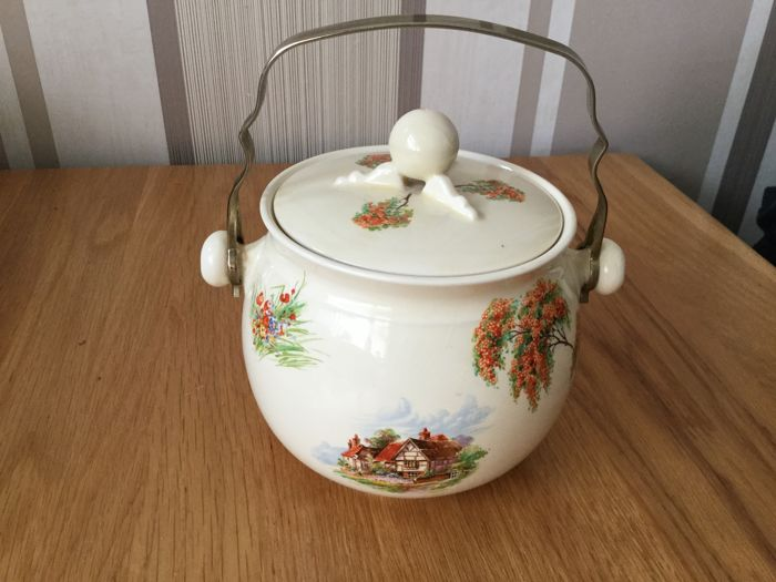 Royal Staffordshire Clarice Cliff Biscuit Barrel. for sale