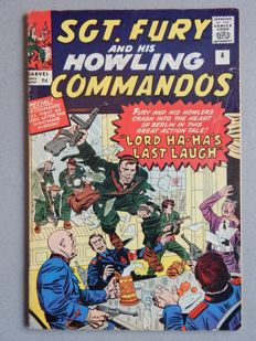 Marvel Comics - SGT. Fury and his Howling Commandos #4 - 1x sc - (1963)