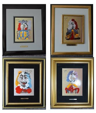 Pablo Picasso (after) - 4 Portraits Imaginaires: Le Roi, Le Nain, Le Mousquetaire Bleu, Le Courtisan