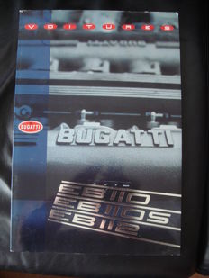 Bugatti 4 brochures/press kits 1990s