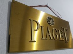 Metal Piaget fine jewellery sign