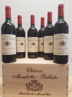 1992 Chateau Mondotte - Bellisle, St. Emilion Grand Cru - 6 bottles in original wooden case