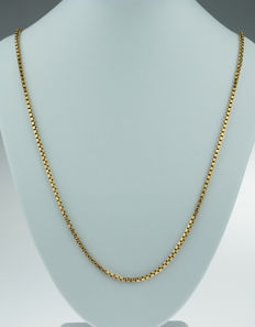 18 karat gold link necklace, long model: 72 cm - sturdy edition