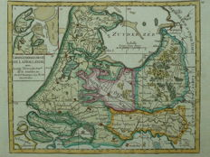 Holland, Utrecht Texel; Robert de Vaugondy - Carte generale des IX de la Hollande avec (...) - 1748