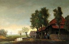 Cornelis Lambrechts (early 20th century) - Landschap