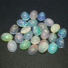 Excellent lot of white opals  - 16.45 ct  (25)