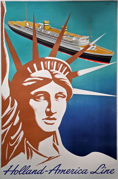 Frans Mettes - Holland America Line - 1955