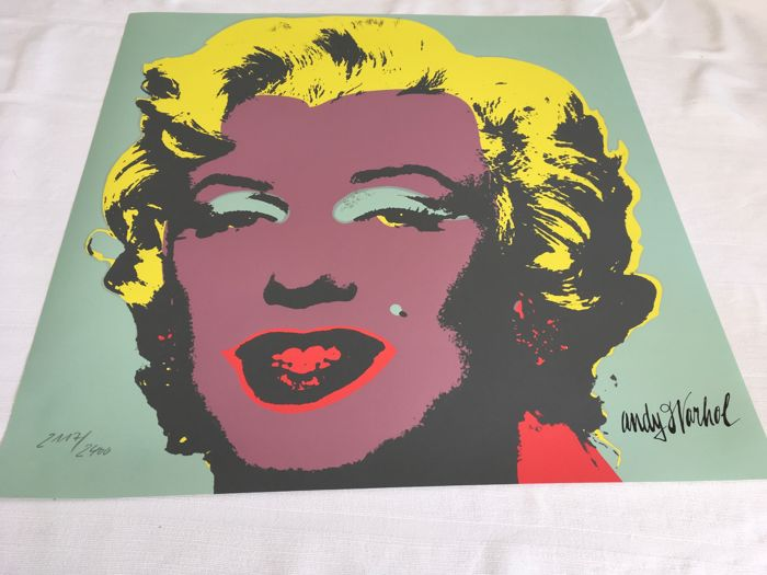 Andy Warhol (after) Marilyn Monroe 1967 green and pink