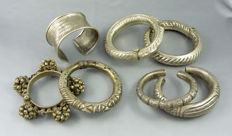 Lot of 7 bracelets of India and South East Asia - 2nd half XXth