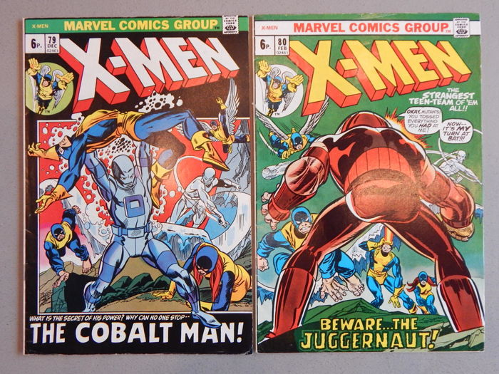 Marvel Comics - X-Men #79 + 80 - 2x sc - (1972-1973)