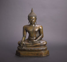 Large bronze Buddha statue - Thailand - Late 20th century (62 cm)