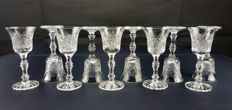 Lot of 10 chiselled and cut crystal items - Saint Louis - France - c. 1916