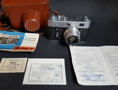 FED 3 camera in original box with papers stating series and lens number
