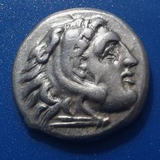 Greek Antiquity - Kingdom of Macedon - Alexanter the Great Drachm, circa 323-317 BC, Zeus seated left throne, holding eagle and scepter;