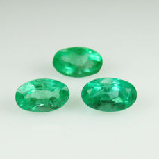 3 Emerald Matching Set - 0.90 Ct -  No Reserve Price