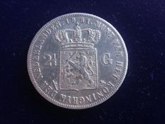 Netherlands - 2½ gulden 1851 Willem III - silver