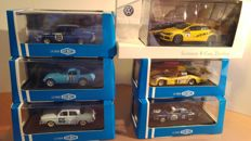 Atlas / Spark - Scale 1/43 - Lot with 6 models: 2 x Renault, 1 x Gordini & 2 x Alpine