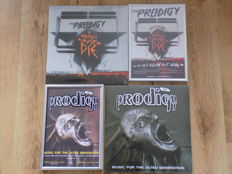 """The Prodigy """" Music For The Jilted Generation """" & """" Invaders Must Die """" LP""""S & framed poster prints."""