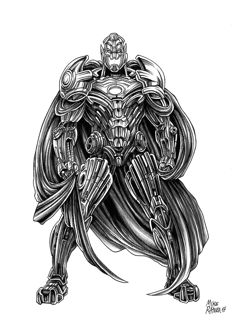 Ultron - Original Drawing - Ratera, Mike