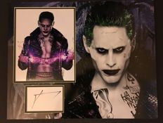 Jared Leto signed Suicide Squad Joker photo mount