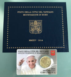 Vatican - BU set 2014 + 50 Cent coin in coincard