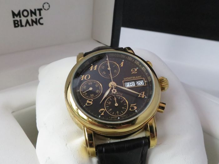 montblanc meisterstuck star chronograph automatic ref. Black Bedroom Furniture Sets. Home Design Ideas