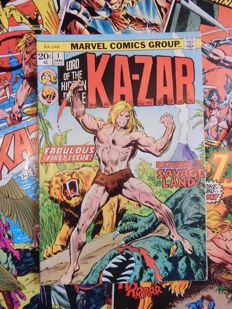 Marvel Comics - Ka-Zar Lord of the Hidden Jungle #1, 2, 4 (x2), 12 (x2 - 1 with panel), 19, 31 and 32 + Astonishing Tales #13 + 18 - 11x sc - (1970/1984)