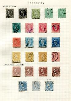 Roumania 1879/1943 - collection on 37 album leaves including good Charity and back of book issues.