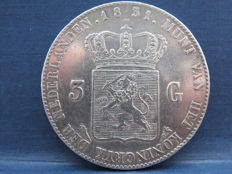 The Netherlands - 3 guilder 1831/24 (year change), Willem I - silver