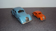 JEP, France/Lehmann, Germany - Length 10-17 cm - lot with tin limousine and GNOM car with clockwork motor / neutral, 1930s/40s