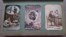 Lot consisting of varied postcards 132 x-women-romance-military-theatre etc. Including signed cards.