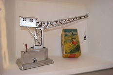 Lehmann / Gely (?), (Western) Germany - Lot with tin crane and Rigi cable car, 1930s/50s