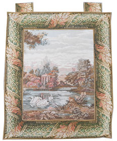 vintage pictorial tapestry, second half of the 20th century, France  88 cm x 75 cm,