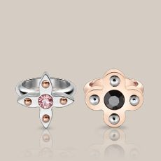 Lot of 2 - Louis Vuitton - Limited Edition Love Letters Rings set size L