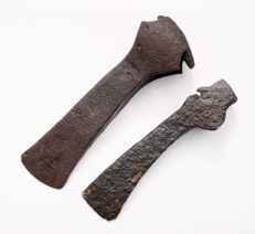 Medieval iron Axes Viking period - 21 cm and 18.5 cm