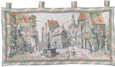 vintage  pictorial tapestry  , second half of the 20th century, France  66 cm x 128 cm,
