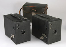 Two Kodak Hawk -Eye No. 2 model B