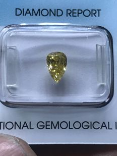 Diamante fancy brownish yellow natural ct 1.01