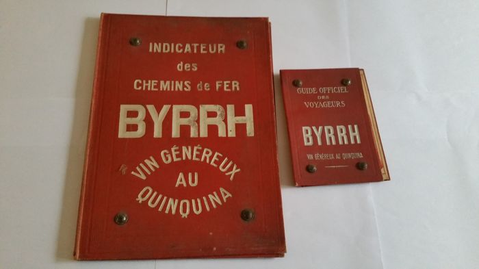 Binder and Official Railway Guide advertisement for Byrrh vin généreux au Quinquina, from the 1920/1930s