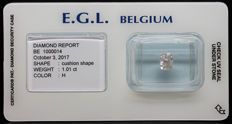 1.01 Cts Certified H Colour Diamond  -No Reserve
