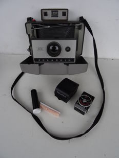 POLAROID 320 Camera + Polaroid Model 628 light meter + Print Coater for black and white