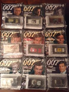 10 James Bond 007 CAR collection cars and magazines