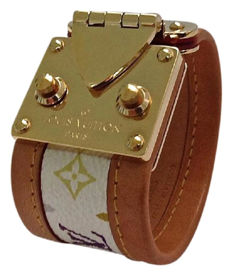 Louis Vuitton - Monogram Multicolore Leather Bracelet in size M - Very Hard to Find