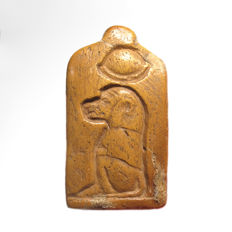 Egyptian Bone Thoth Baboon Pendant, 4.8 cm L