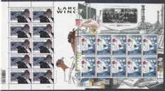 "Belgium 2011 - OBP no. 3994 ""Largo Winch"" with plate no. 2 and no. 4096 Int. VN year of Chemistry in sheetlets of 10"
